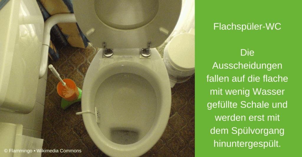 Flachspüler-WC