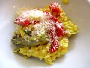 Artischocken-Risotto mit getrockneten Tomaten