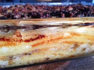 Wirsing-Macaroni-Auflauf fertig
