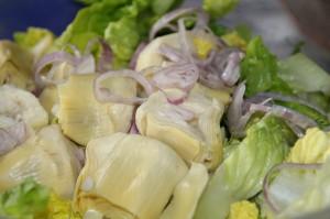 Salat mit Artischockenherzen